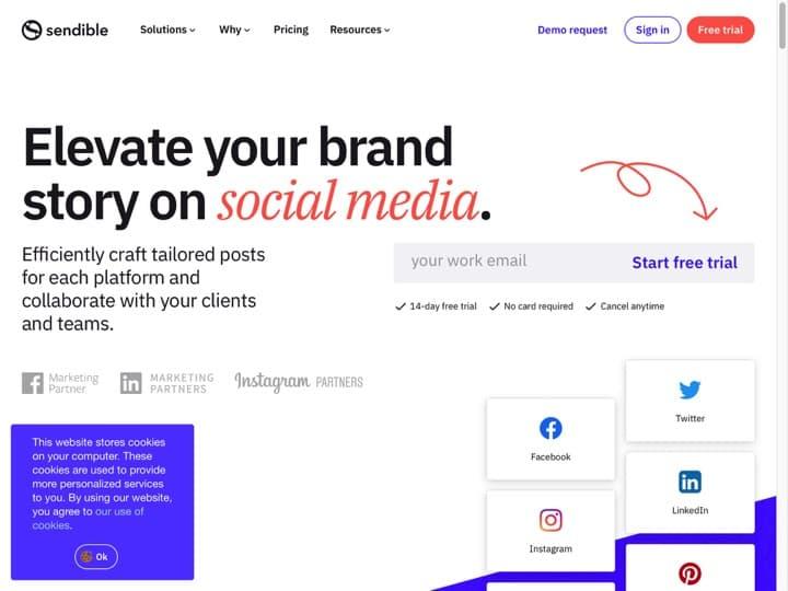 Meilleur logiciel de surveillance des réseaux sociaux : Sendible, Socialreport