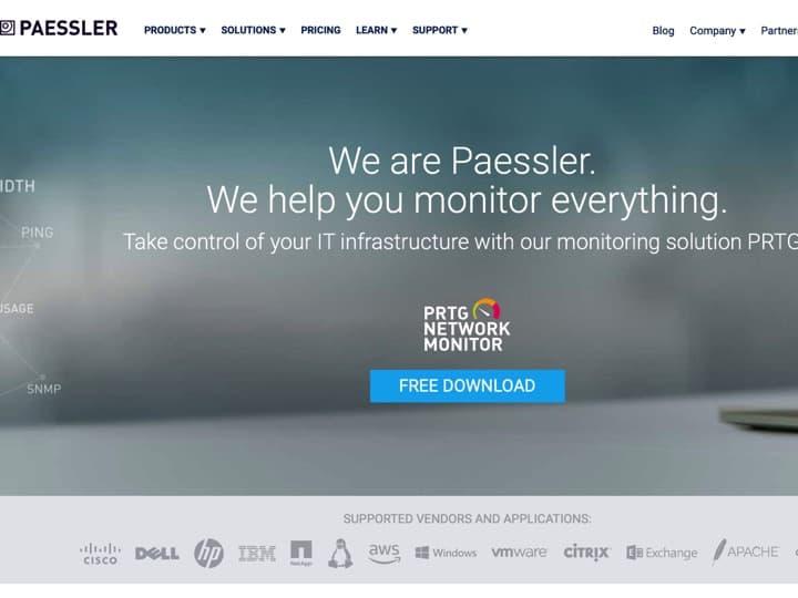 Meilleur logiciel de surveillance du réseau informatique : Paessler, Zabbix