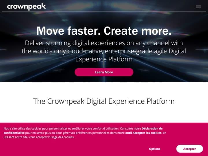 Meilleur logiciel de surveillance du statut d'un site Internet : Crownpeak, Site24X7