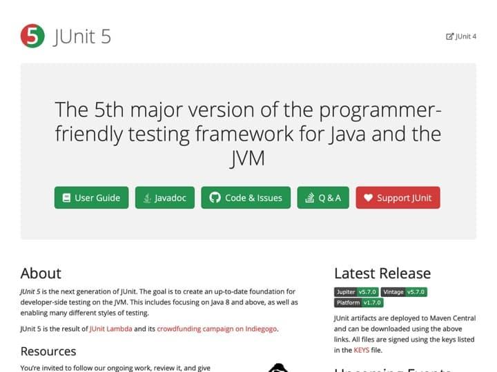 Meilleur logiciel de tests de frameworks : Junit, Cactusformac