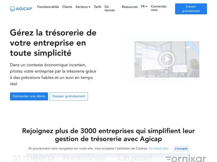Meilleur logiciel de trésorerie : Agicap, Sap