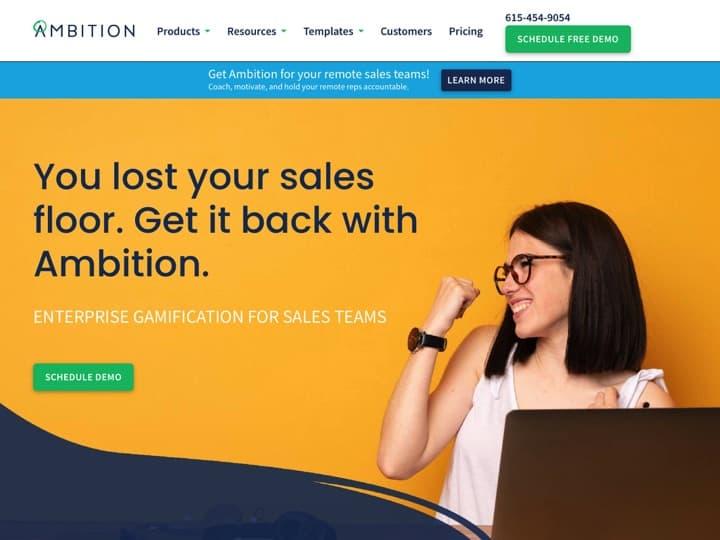 Meilleur logiciel de ventes sédentaires : Ambition, Ringdna