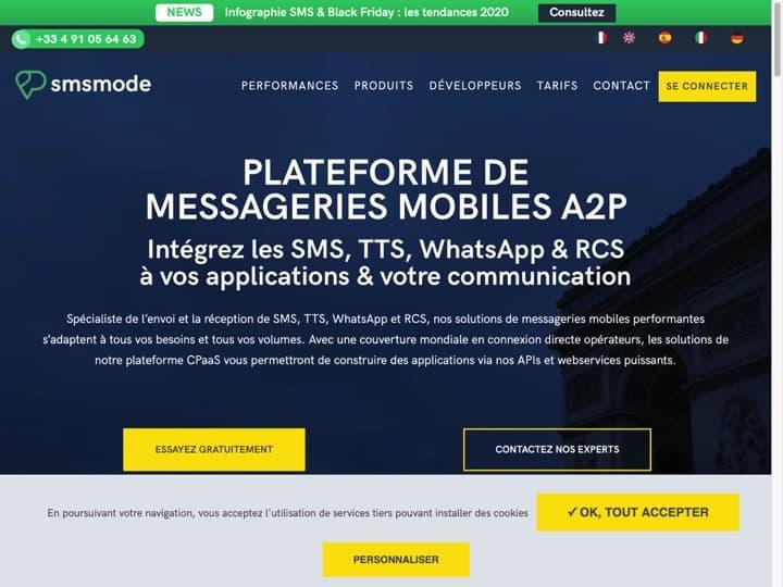 Meilleur logiciel d'envoi de SMS marketing : Smsmode, Octopush