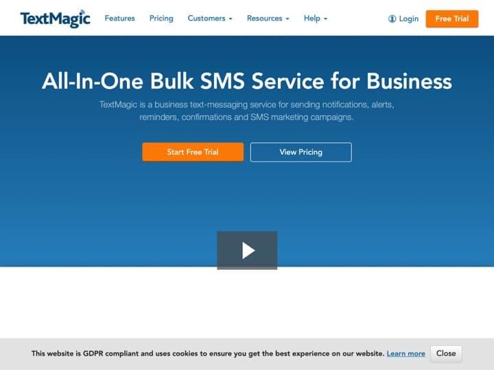 Meilleur logiciel d'envoi de SMS professionnels : Textmagic, Teckst