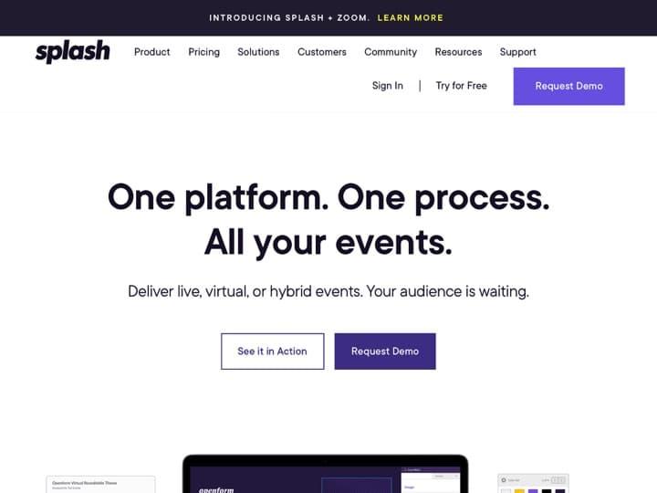 Meilleur logiciel d'inscription à un événement : Splashthat, Etouches