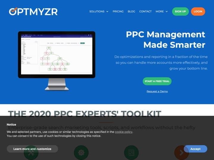 Meilleur logiciel d'optimisation publicitaire : Optmyzr, Optmyzr