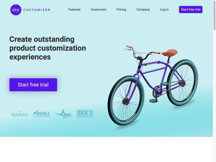 Meilleur logiciel Gestion de Produits : Mycustomizer, Wishwall
