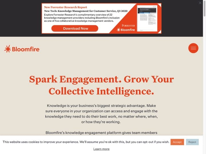 Meilleur logiciel Gestion des Employés : Bloomfire, Talentreef