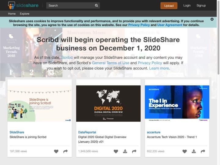 Meilleur logiciel Marketing de Contenu : Slideshare, Viglink