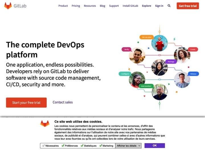 Meilleur logiciel pour coder : About Gitlab, Clever Cloud