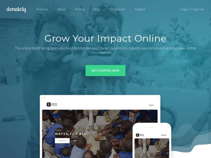 Meilleur logiciel pour créer une plateforme de crowdfunding - financement participatif : Donate, Fundraisersoftware