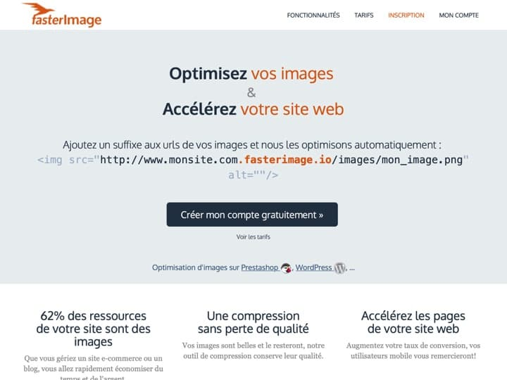 Meilleur logiciel pour optimiser une image - compresser une image : Fasterimage, Kraken