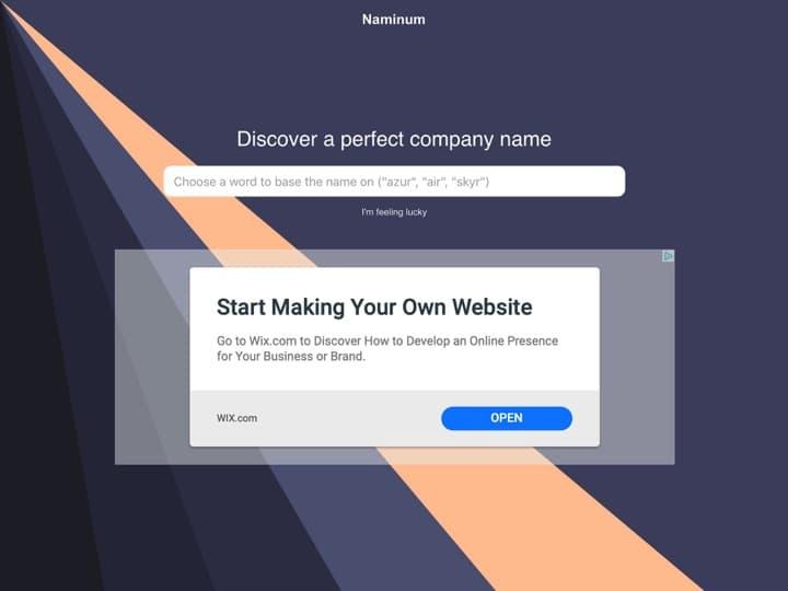 Meilleur logiciel pour trouver un nom d'entreprise - une marque : Naminum, Namaeconcept