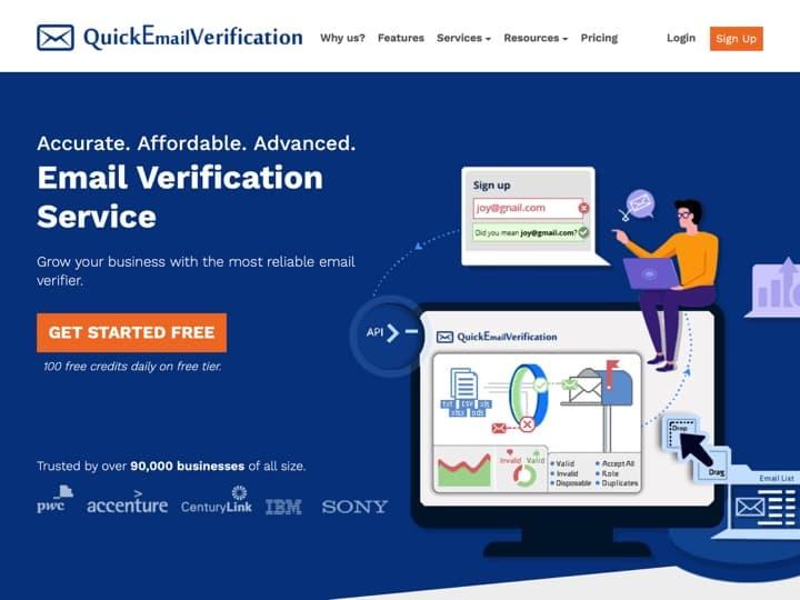 Meilleur logiciel pour vérifier des adresses emails - nettoyer une base emails : Quickemailverification, Datavalidation