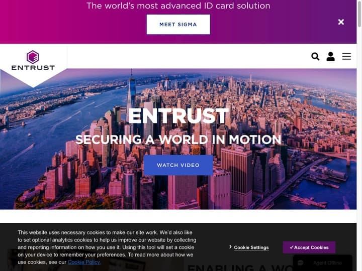 Meilleur logiciel Sécurité sur Internet : Entrustdatacard, Comodo