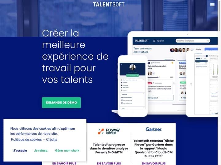 Meilleur logiciel SIRH (Système d'Information des Ressources Humaines) : Talentsoft, Foederis