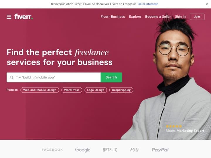 Meilleure marketplace de freelances : Fiverr, Creativemarket