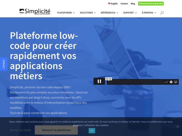 Meilleure plateforme Applicative en tant que service : Simplicite, Simplicite