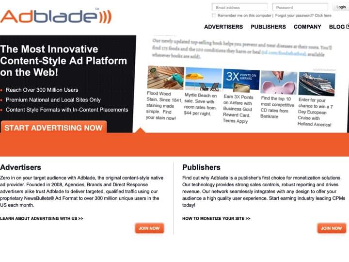 Meilleure plateforme de pilotage des campagnes publicitaires (DSP - Demand side platform) : Adblade, Tradelab