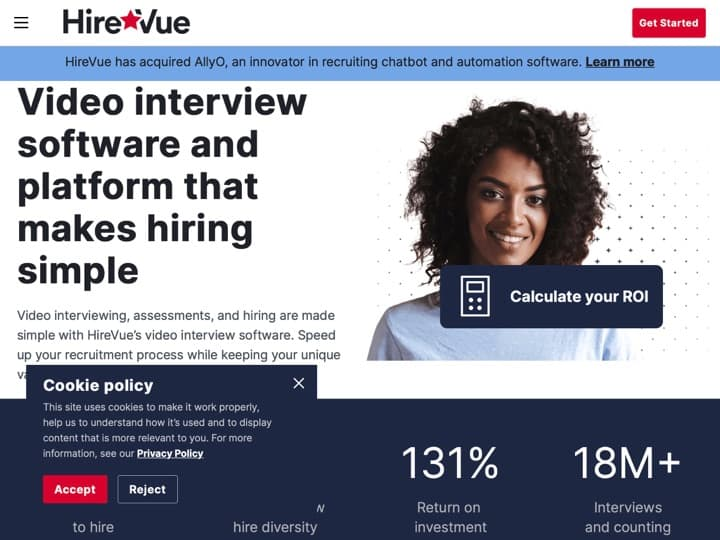 Meilleure plateforme d'entretien virtuel : Hirevue, Sparkhire