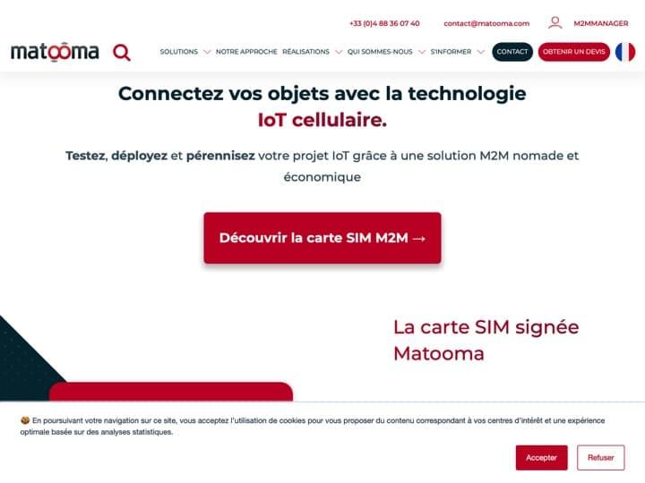Meilleure plateforme IoT (Internet des Objets) : Matooma, Matooma