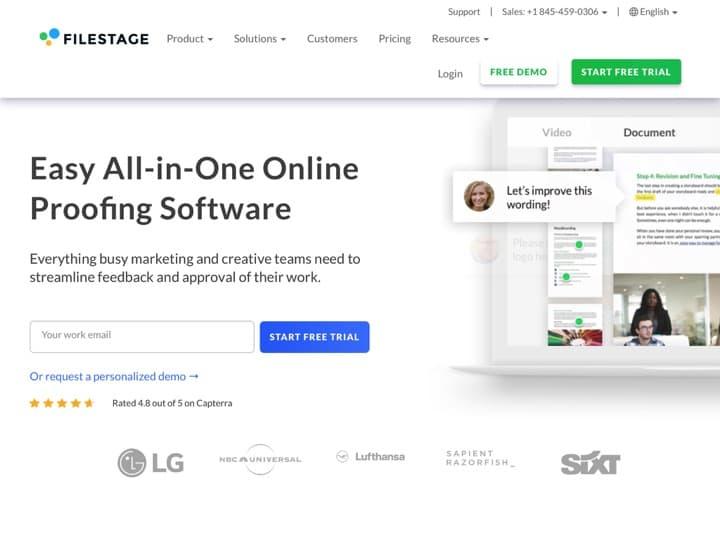 Meilleure plateforme pour recevoir des feedbacks sur un design créatif : Filestage, Proofhq