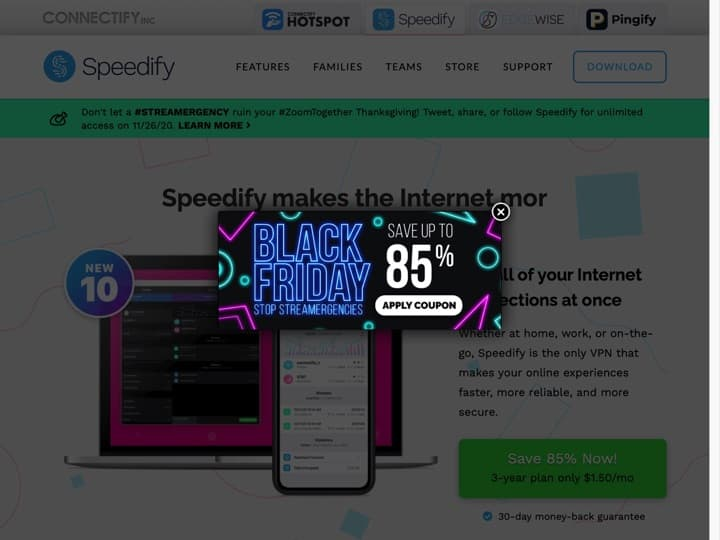 Meilleur Réseau privé virtuel (VPN - Virtual Private Network) : Speedify, Purevpn