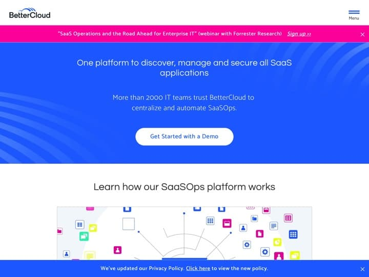 Meilleur service d'infrastructure informatique : Bettercloud, Stellarinfo