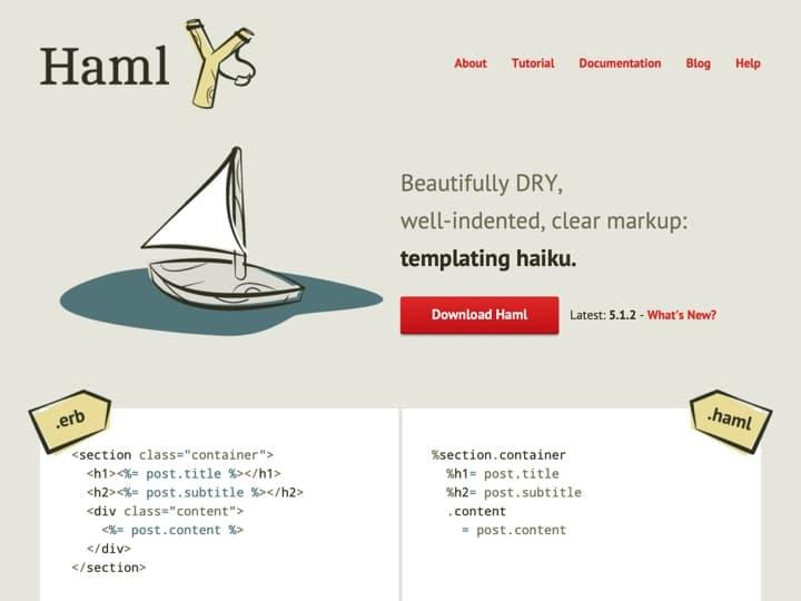 Meilleur templating : Haml, Handlebarsjs