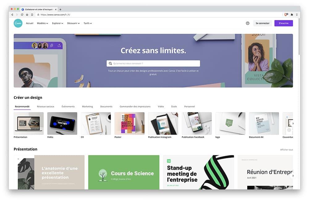 Canva : logiciel graphique en ligne