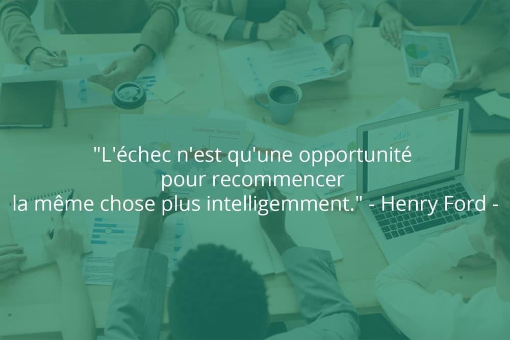 Citation de Henry Ford sur le succès et les opportunités.