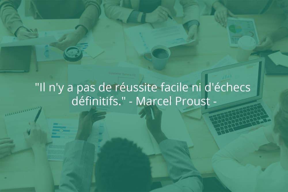 Citation de Marcel Proust sur le succès et la facilité.