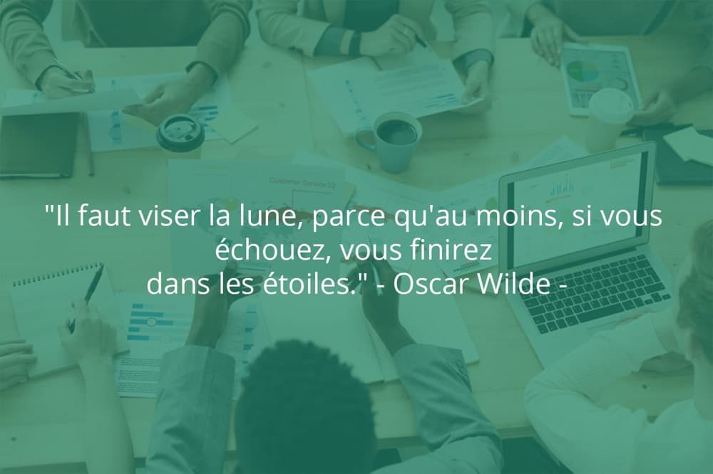 Citation de Oscar Wilde sur le succès et le rêve.