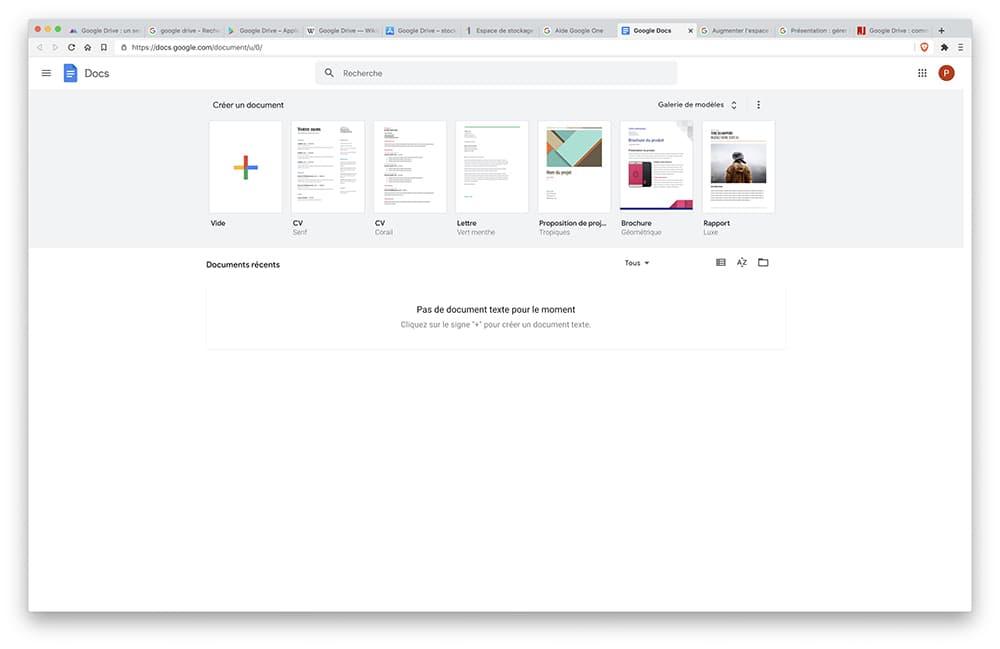 Capture Ecran Google Drive