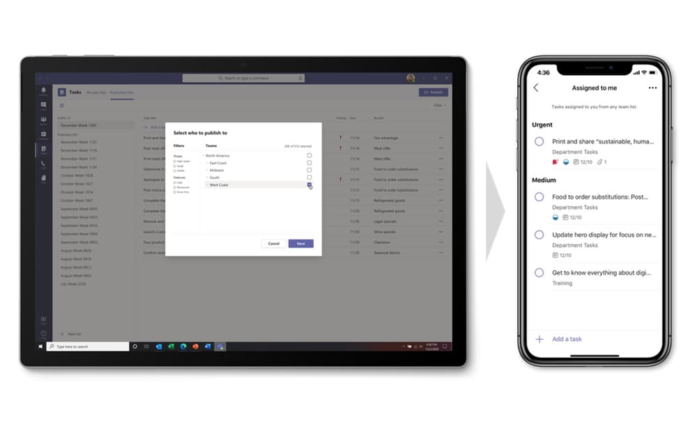 Capture Ecran Microsoft Tasks / Microsoft Planner