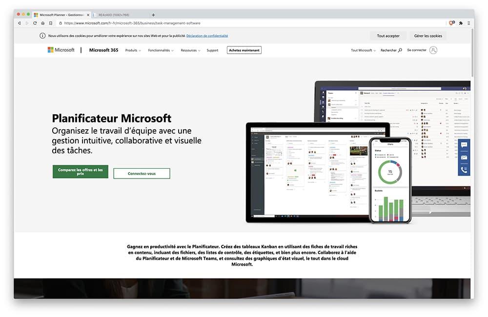 Microsoft Tasks / Microsoft Planner : logiciel gestion des taches
