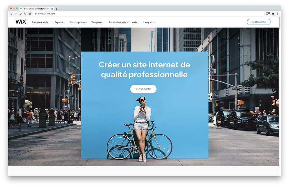 Wix : logiciel Création Site Internet