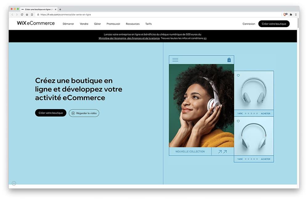 Wix Stores : logiciel Création Boutique en Ligne