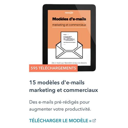 15 modèles d'emails marketing et commerciaux