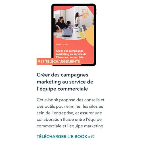 Comment créer des campagnes marketing au service de l'équipe commerciale